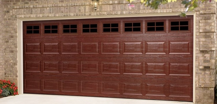 Garage door photo gallery denkers garage doors for Wood grain garage doors